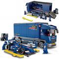 641Pcs lot Transporter F1 Car Model Children Building Blocks Toys Nice DIY Kids Birthday Gifts Safety