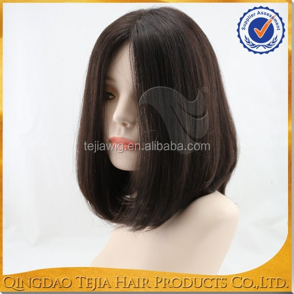 Wholesale virgin cuticles remy European human hair silk top kosher wigs jewish wigs