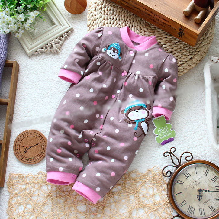 2014 new arrival baby rompers for spring and autumn baby girl cotton rompers newborn baby clothing with Polka Dot
