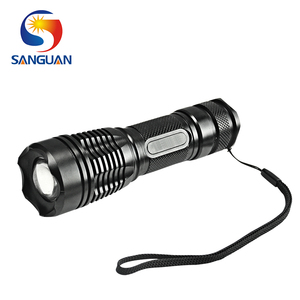 rechargeable and waterproof high power pull-out zoom torch light 4.2v flashlight