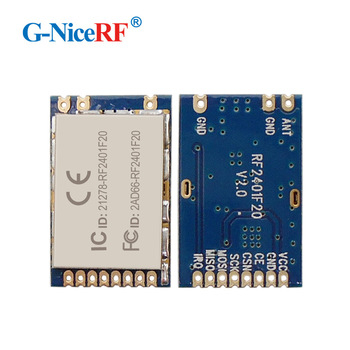 G-NiceRF Long range 400m 20dBm 2.4GHz nrf24l01 rf module RF2401F20 with FCC / CE / IC approval