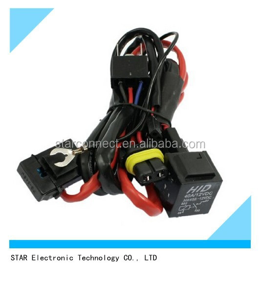 Sales promotion automotive H4 Xenon HID Motorcycle Light Wire Harness Relay Harness