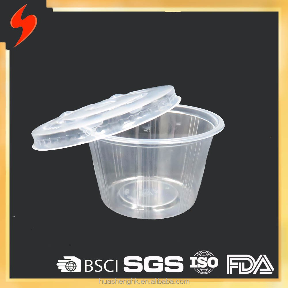 OEM FDA 5oz Clear Plastic Disposable dessert Cup with lid