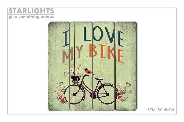 wedding room wall plaques for decoration love advertising board bicycle