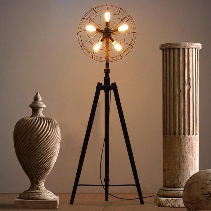 ... industriale illuminazione vintage lampada da terra moderna-Lampade da