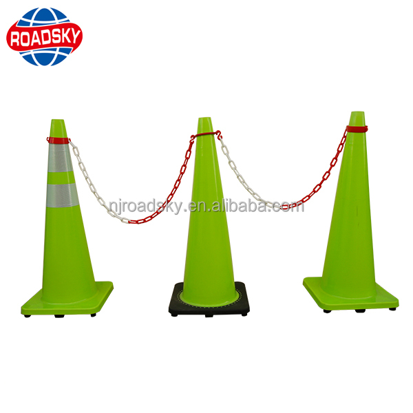 32cm Road Traffic Cone Reflective Roller Skating Emergency Safety Cone Green