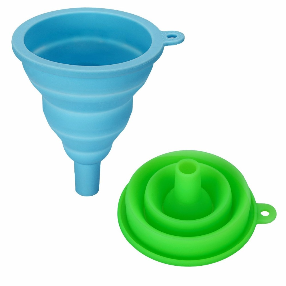 mini silicone kitchen funnel cooking tools foldable funnel collapsible threaded funnel buy silicone threaded funnelsilicone kitchen funnelsilicone - Kitchen Funnel