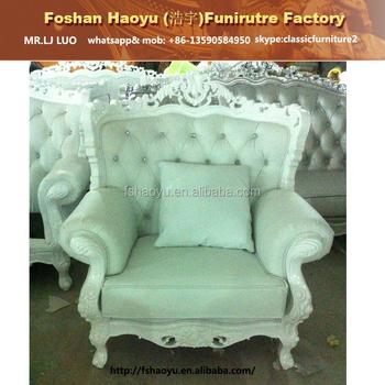 Lady Bianca Armchair, Baroque Antique Salon Furniture, White Wedding  Armchair