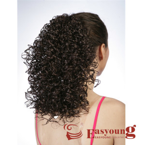 afro curly hair styles Children drawstring ponytail curly hair pieces