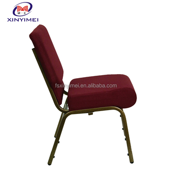 Hot sale factory price aluminum stacking church chair