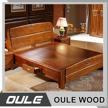 Latest design modern bedroom furniture solid wood double for Latest furniture design for bedroom