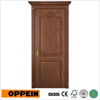 Veneer Finish Door Interior Pre Hung Solid Wooden Doors