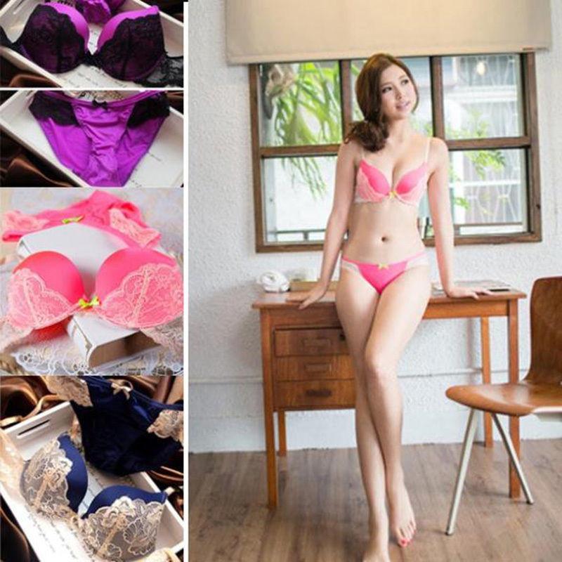 bf16bab031 2019 Wholesale Sexy Lace Push Up Underwear Women Bra Brief Sets ...