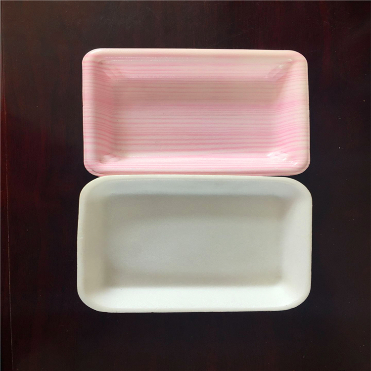 disposable Biodegradable fruit meat chicken packaging plastic foam frozen food tray