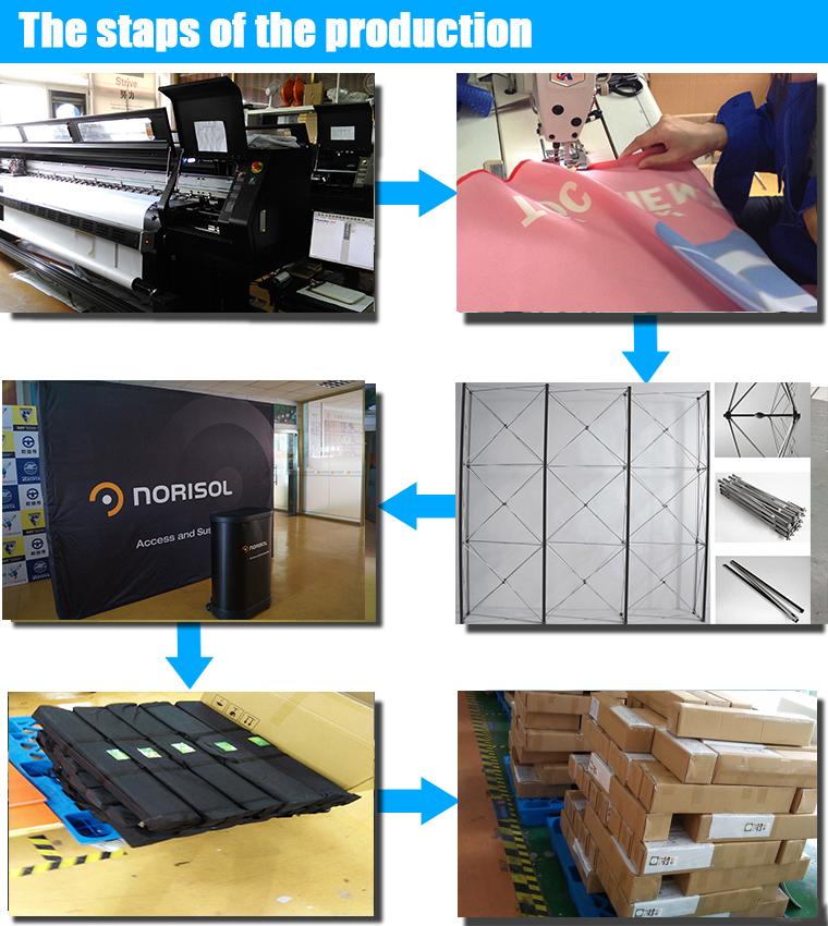 屋外advertisng磁気フレームポップアップブースディスプレイバナースタンド仕入れ・メーカー・工場