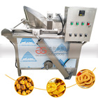 Guangzhou Industrial Automated Banana Slice Batch Fryer Plantain Chip Deep Frying Machine