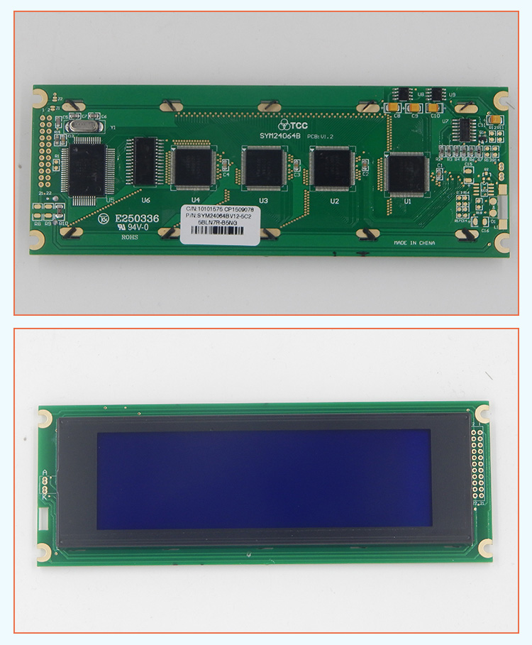 TCC LCD240*64(BV12) industrial cob graphic module T6963 controller panel 22pins display screen stn lcd 240x64
