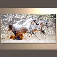 Wholesale Handmade Aluminium Horse Painting Metal Wall Art Sculptures