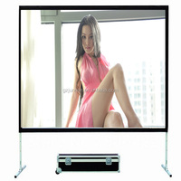 100 inch folding shower screen with front and rear material