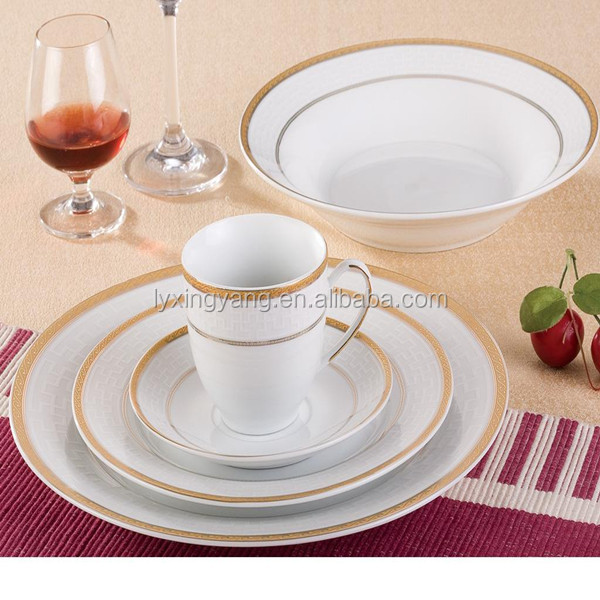 white gold dinnerwareceramic gold line dinnerwarehigh quality dinner set & White Gold DinnerwareCeramic Gold Line DinnerwareHigh Quality ...