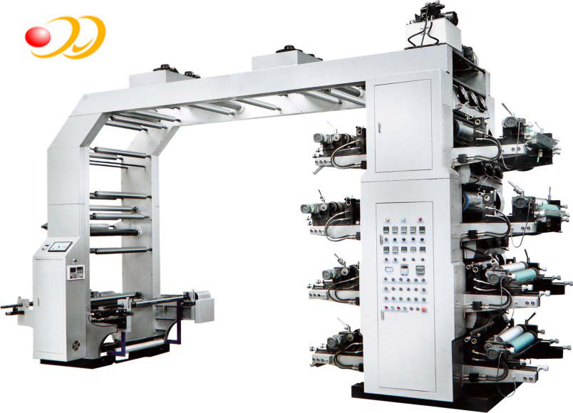 Flexo Printing Machine 8 Colors For Pet Pvc Cpp Film Manufacturer