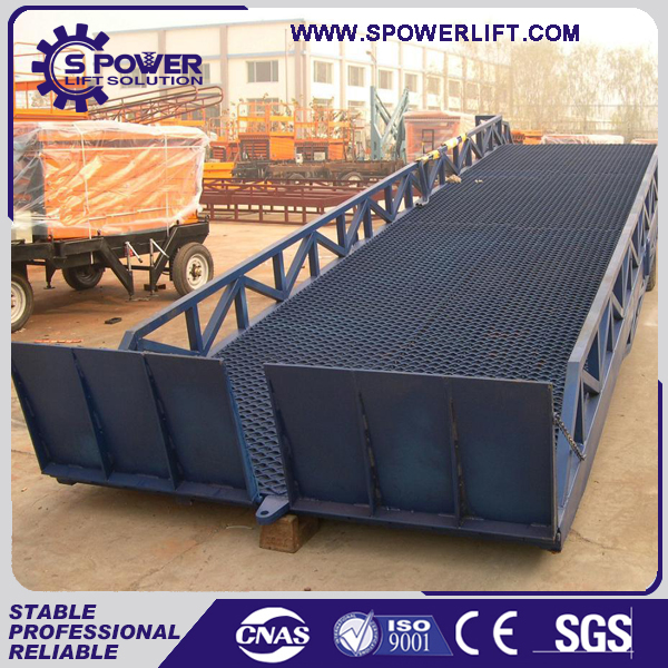 Spower SPRM6-12 ton hydraulic yard ramp mobile dock levellers