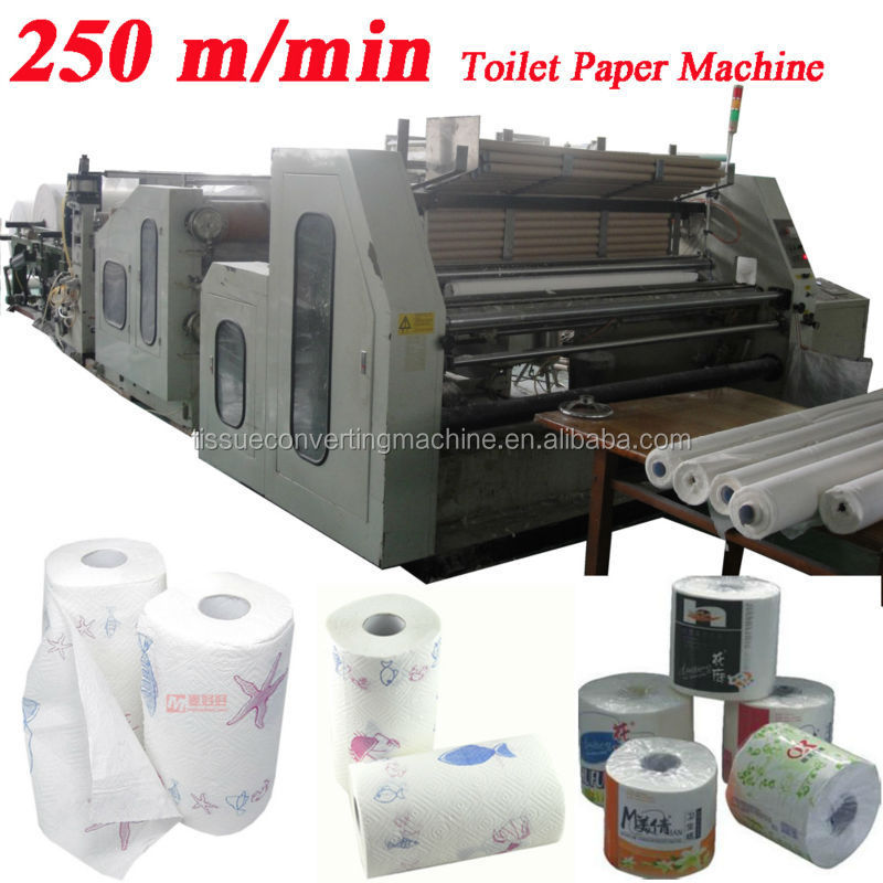 250m Speed Embossing Perforating High Speed Automatic Toilet Paper Machine  For Sale - Buy Toilet Paper Machine For Sale,Automatic Toilet Paper Machine