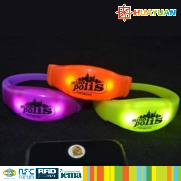 Combined design RFID LED flashing wristband for party