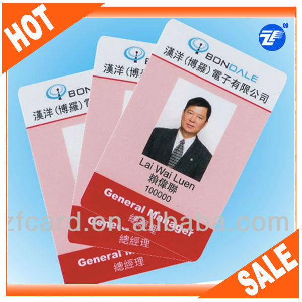 Customized Pvc Chinese Office Id Card Design For Free - Buy Office ...