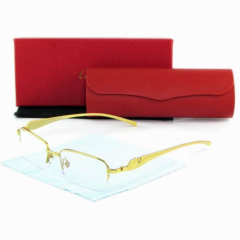 f7663f87a96 Get Quotations · Semi Rimless Carter Metal Buffalo Alloy Leopard Leg Frame  Plain Glasses Clear Lens men sunglasses gafas