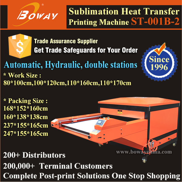 2 stations flatbed Automatic Sublimation hot transfer large format tarpaulin printer