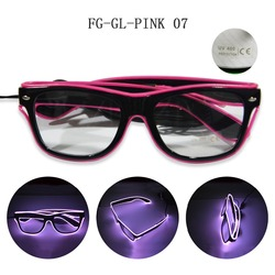 2018 hottest pink El Wire Glasses for music festivel decoration