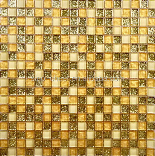 Gold Color Gl Mosaic Tile Supplieranufacturers At Alibaba