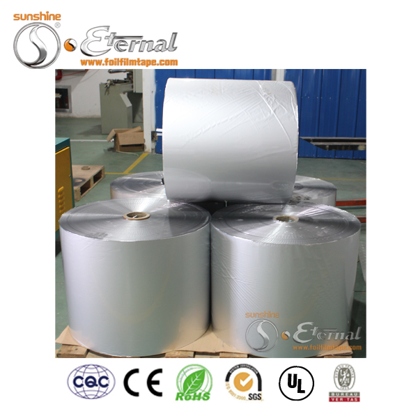 Composition aluminum foil and polyester film for cables and flexible duct
