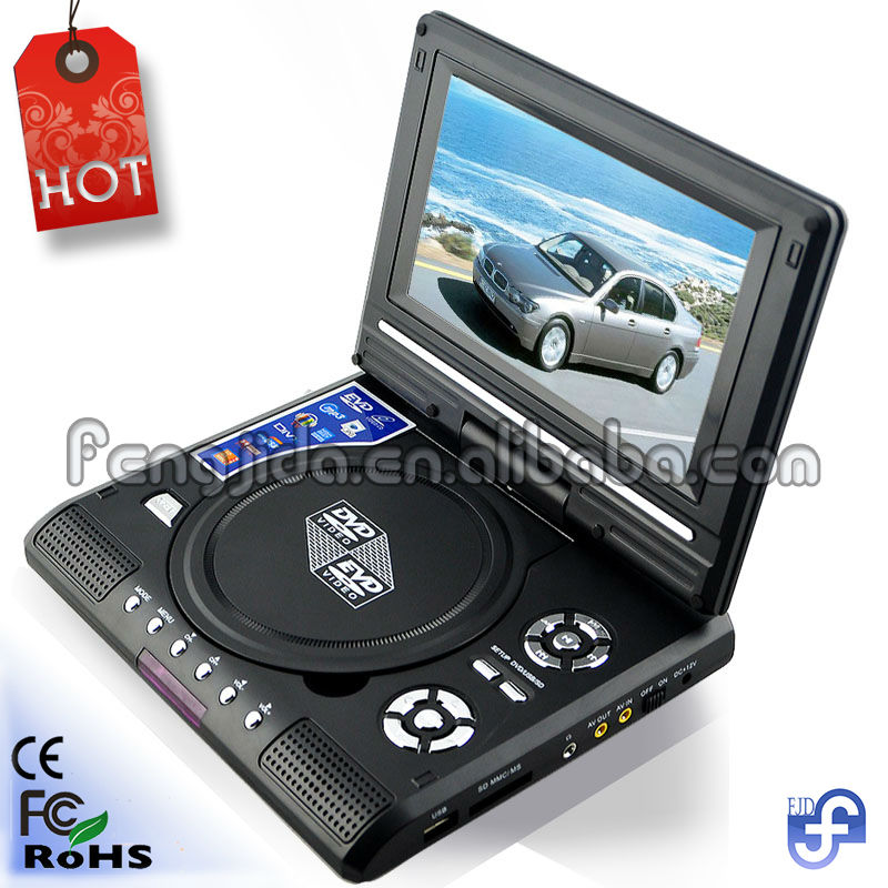 Fashion 7 inch laptop cheap portable dvd player