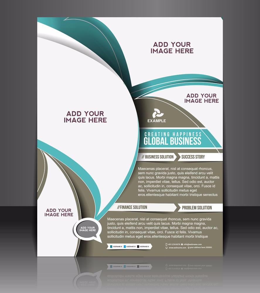 fashion design commercial leaflet