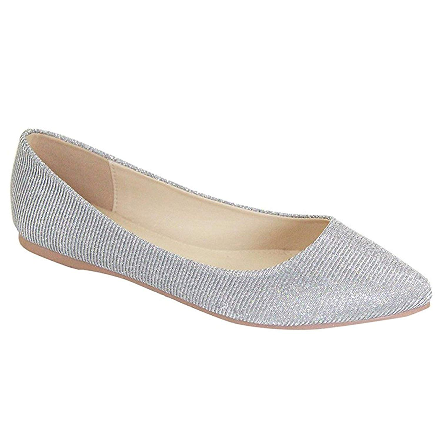 Get Quotations · Women s Classic Pointy Toe Ballet Flat Shoes Soft Casual  Dressy Slip on Loafer Flats b43c5cd95