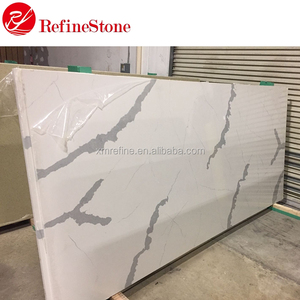 hot sale artificial calacatta white quartz stone price