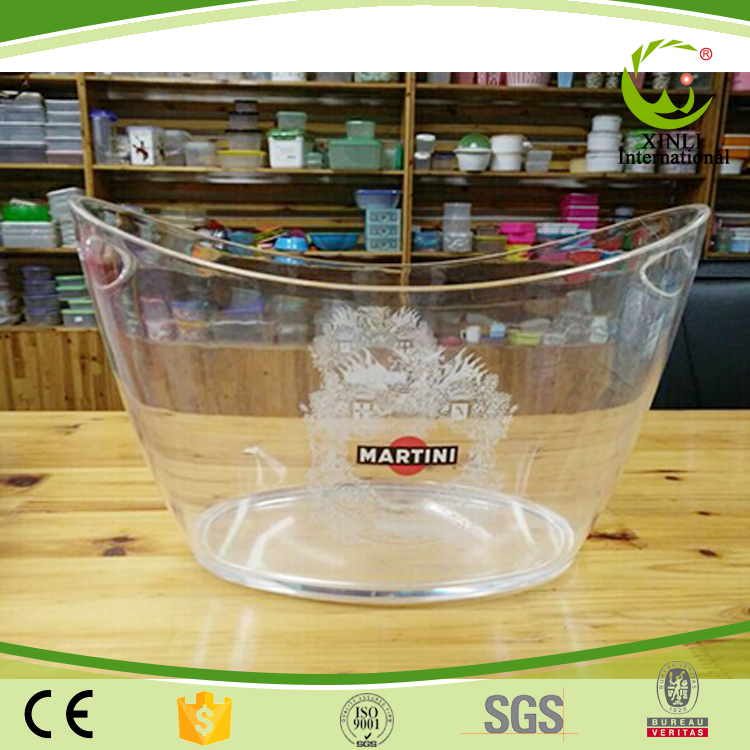 Free Sample Oem/Odm Welcome Clear Plastic Buckets With Lids Ice Bucket
