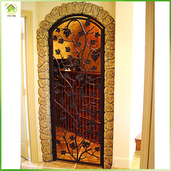 Wrought Iron Doors And Windows Wine Cellar Door Cabinet