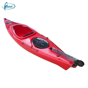 New fashion factory price promotional fishing one person stable sea kayak canoe boat