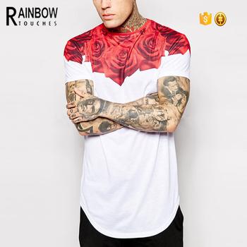 Custom Design T Shirt   China Herstellung Custom Design Rose Sublimation Druck Manner T