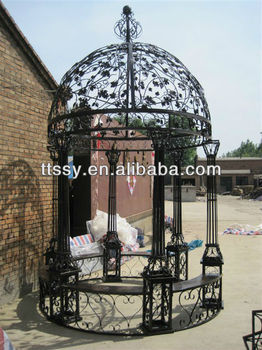 Garden Gazebo Wrought Iron Dome