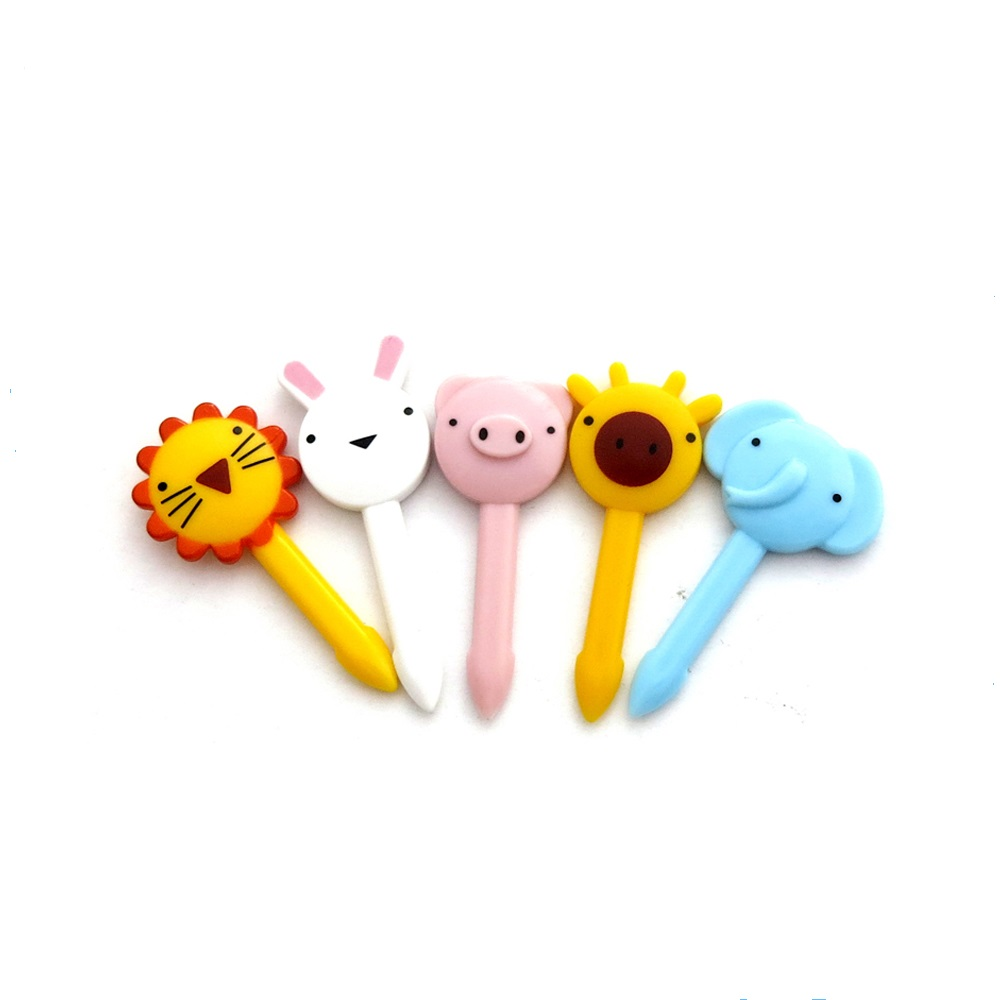 40mm Party Supplies Cute Animal food Picks Animal fruit fork