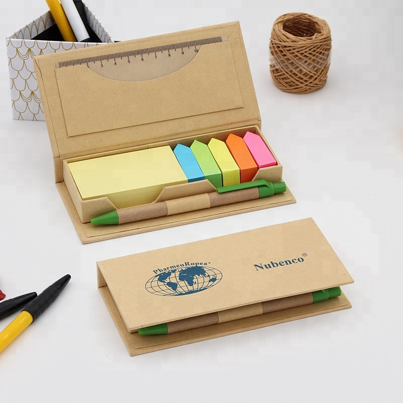 Kleurrijke custom print Sticky Notes Memo pad set