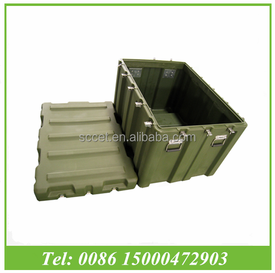 Tactical Tough Hard Box, waterproof plastic large storage case for military use