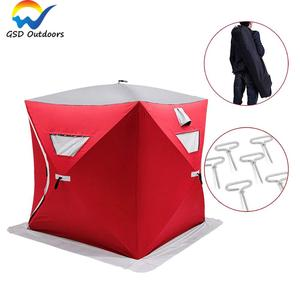 Outdoor Portable Pop up Ice Fishing Tent Windproof Automatic Camping Bivvy Tent 2 Person Fishing Ice Tent Carp Fishing Bivvy Ten
