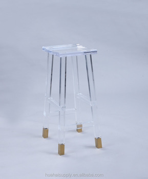 2017 Fancy Item High Chair Design Acrylic Bar Stool Chair Coffee Shop Chairs