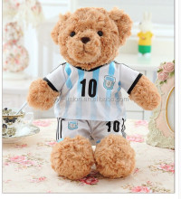 T-shirt teddy bear , footbal teddy bear toys , loving stuffed toys gifts for sports