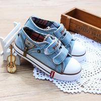 C74425A Unique blue canvas shoes baby and kids shoes